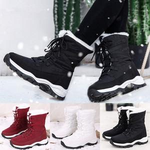 Stivali invernali impermeabili da donna Stivali invernali caldi Peluche Soletta Snow Snow Snow Stivaletti Stivaletti Lace Up Thick Bottom Shoes Shoes Botas Mujer Boots Boots H1aq #