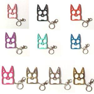 Self Defense Multi Function Mental Cat Car Keychains Bottle Opener Creative Wrench Broken Window Key Chain Fashion Handbag Keychain Safety Keyring