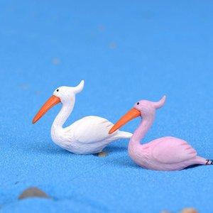 Mini Figurine Flamingo Cartoon Doll Toy Moss Terrarium Ecology Bottled Ornaments Micro Landscape Accessories Fairy Garden DIY Material HWA88