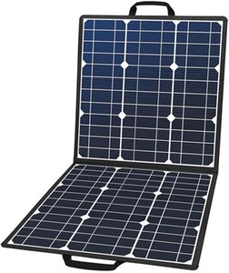 100W 18V Portable Solar Panel, Foldable Solar Charger with 5V USB 18V DC Output Compatible with Portable Generator, Smartphones, Tablets and