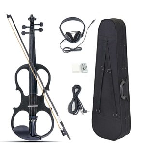 4 4 Bilateral Electric Violin Set Basswood Fiddle Stringed Instrument With Case Fittings Cable Headphone For Music Lovers