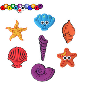 Wholesale PVC sea creature clog charms Custom designer for hole shoe