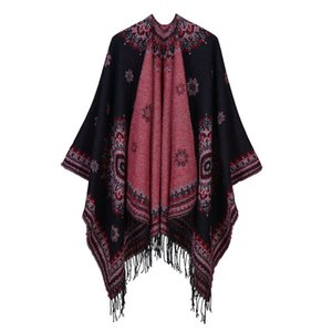Luxury Brand scarves shawls Imitation Cashmere New Fashion Women Bohemia Wraps & Shawls National Flowers Jacquard Tassel