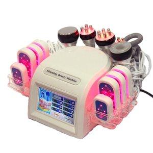 Novo 7 In1 Tripolar Bipolar Sextuole RF Photon Lipo Laser Massager Massager Máquina de emagrecimento Frete Grátis