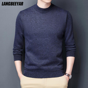 Top Quality Thick Fashion Brand Knit Pullover O Neck Knitted Sweater Men Designer Autum Winter Casual Jumper Mens Clothes 2021