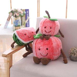 1 шт. 32/42 / 48см Kawaii Cherry Warmelon Plushtoy для детей мягкие плюшевые фруктовые игрушки фаршированные плюшевые растения подарок для детей