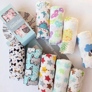 Infant Muslin Blanket Horse Flamingo Animal Baby Swaddle Baby Newborn Bathroom Towels Robes Infant Swadding Muslin by sea HHB10516