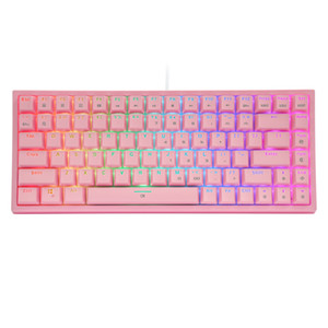 CQ84 RGB Led Backlighting Mechanical Keyboard 84 Key Detachable Cable Compact Wired Keyboard For Gamer Office PC