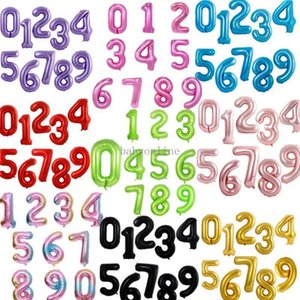 40 inch Large number balloon 1 2 3 4 5 Number Digit Helium foil Ballons Baby Shower Birthday Party Wedding Decor Supplies