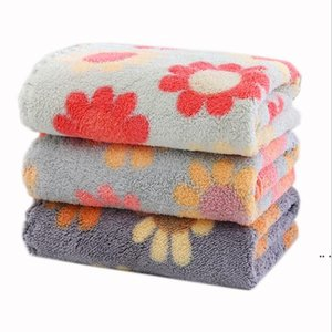 Handkerchie Fcoral Fleece Kerchief Soft Absorbent Household Square Dishcloth Dish Super Hand Towels Wipe Table Towel Kitchen Tools DHC6481
