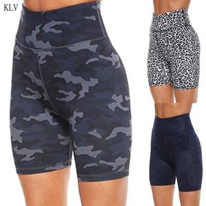 Womens High Waist Workout Sport Biker Shorts Leopard Camo Snakeskin Tummy Control Butt Lift Running Leggings Short Pants 210306