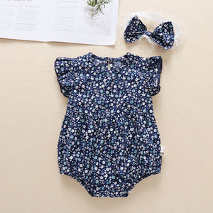 Designers Clothes Kids Baby Clothes Infant Clothes Girls Solid Romper Newborn Infant Ruffle Flying Sleeve Jumpsuits