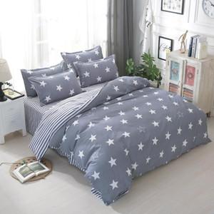 أزياء العلامة التجارية الكرتون ستار المطبوعة مجموعة مفروشات السرير مجموعة أغطية السرير تشمل غطاء لحاف ورقة السرير المخدة التوأم كامل الملكة الملك الحجم