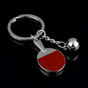 hot cake Chains Fashion Golf Badminton Table Tennis Keychain Car Ring Key Holder Bag Accessory for Sports Enthusiasts Gift