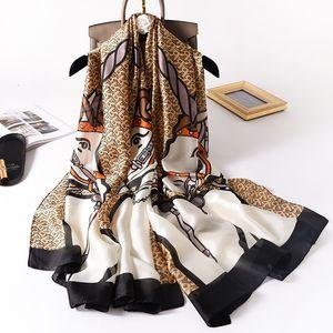 winter 2021 new fashion simulation silk women's warm scarf letter long spring and Autumn shawl EPOP