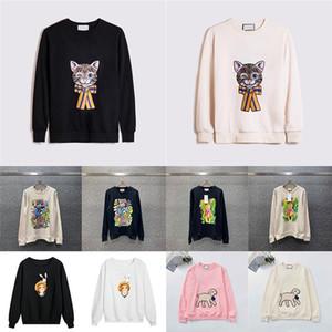 20ss para mujer diseñador sudaderas Cordero camisetas gato de la manera Imprimir capucha para mujer Ropa casual suéter con capucha de invierno joven lujo