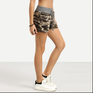 2021 Summer New Female Fashion Camouflage Print Shorts Women Cotton Casual Lace Up Camo Cargo Shorts Army Hot Shorts