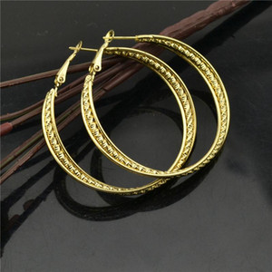 Hoop earrings for women Fashion Jewelry Accessories Wholesale Shiny personality all-match golden big circle trend ladies earings