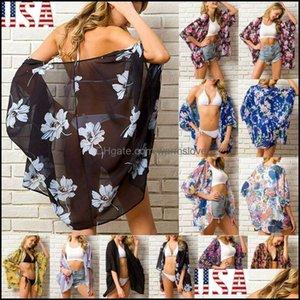 Er-Ups Swimming Equipment Sports & Outdoorser-Ups Fashion Women Ladies Floral Beach Kimono Blouse Chiffon Cardigan Shawl Bikini Er Up Beachw