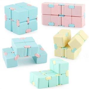 DHL colorido infinito cubo macaron candy cores festa casa descompressão mágica fidget brinquedo aliviar o dedo do stress divertimento brinquedos infinitos