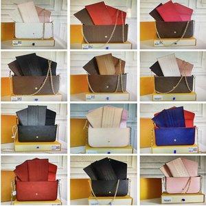 Кошельки Crossbody цепь сумка роскошь дизайнеры сумки женские плеча сумки с тиснением цветок мода женский туристический кошелек держатель карты кошелек с коробкой