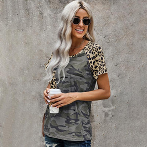 New Summer Women Tshirts Camouflage print Pattern Plus Size aesthetic clothes Tops For Fashion Women's Sundress Clothing 2021