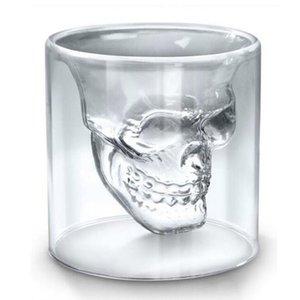25 ml 70ml 150ml 250ml vino cráneo vidrio vidrio vidrio cerveza whisky decoración de halloween creativo transparente transparente vidrios beber gafas