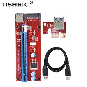 Computer Cables & Connectors TISHRIC 15Pin SATA To USB 3.0 PCI Express Riser Card VER007S 1x 16x Extender Adapter For BTC Mining Miner