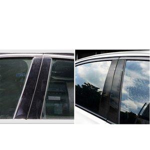 Прочные углеродные волокон автомобильные наклейки окна B столбная отделка декоративные наклейки наружные аксессуары для BMW E46 1999-2004