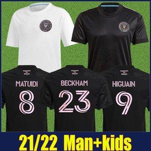 2021 2022 Inter Miami Soccer Jersey Beckham Matuidi Higuain Jersey Fútbol Trapp Pellegrini Pizarro Inter Miami CF Hombres Camisas de Fútbol para niños