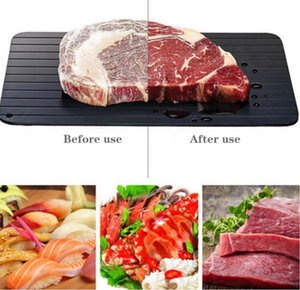 Aluminium Fast Defrosting Tray Thaw Frozen Food Meat Fruit Quick Defrosting Plate Board Defrost Kitchen Gadget Tool 3Size S M L