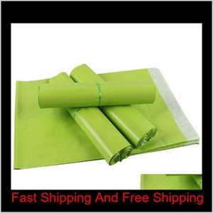 14*22Cm Green Colorful Courier Envelope Shipping Bag Mail Bag Waterproof Plastic Poly Postal Shipping Mailing Bags S4Mpw Pabqe
