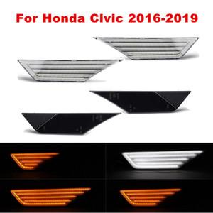 Par Fluindo LED Lateral Marcador Repetidor Luz Luz Luzes Luzes Indicador Lâmpadas Para Honda Civic 10th Gen 2016 2017 2018 2019 2020