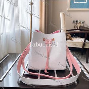 Женское ведро двойной плечевой ремешок сумки Escale Neonoe Crossbody сумка натуральные кожаные сумки регулируемые ремень новых модных сумков