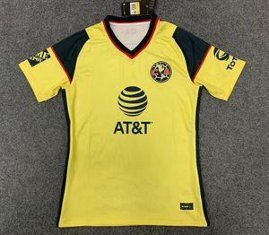 2021 2022 Liga MX Club América Home Amarelo Terceiro Branco Futebol Jerseys 20 21 3ª Giovani Castillo Camisa de Futebol Kit Futbol Personalizado