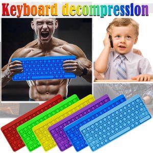 2021 Творческий стиль Игра Fidget Toy Rainbow Board Клавиатура Push Bubble Bubble Pundip Сенсорные Игрушки Родитель-Ребенок Интерактивные Игры Игрушки