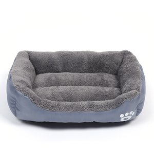 Dog Beds Waterproof Bottom Bed For Dogs Soft Fleece Warm Cat Bed House Petshop Puppy Bed Pet Cushion Mat For Large Dogs S-3XL Y200330