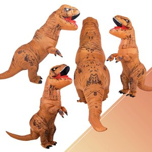 DULTO INFLTTBLE Costume Costumi Dinosur T REX Blow Up Cy Dress Moscot Costume da uomo per gli uomini Donne bambini Dino Crtoon