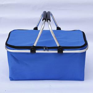 Reusable Insulated Cooler Lunch Bag Hiking Beach Lunch Box Organizer Storage Travel Basket Shopping Basket Bag Box KKA8339