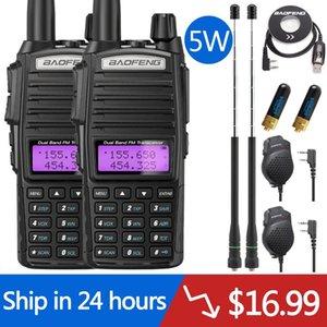 Walkie Talkie 2PCS Baofeng UV-82 5W UV82 Dual PTwo Way Radio Band VHF UHF 10KM Amateur