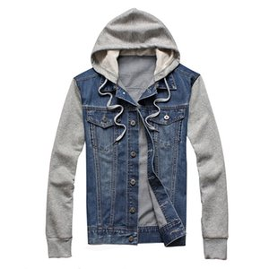 New Denim Men Hooded Sportswear Outdoors Casual Fashion Jeans Jackets Hoodies Cowboy Mens Jacket and Coat Plus Size 5xl