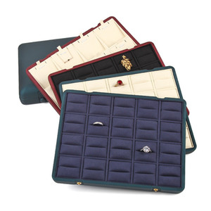 New creative double-breasted large-capacity jewelry storage box, ring pendant earring display tray, high-end jewelry gift box