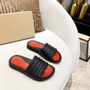 Hausschuhe männer sommer tragen outdoor anti-skid nieten flip-flops mode trend personalität orange strand sandalen rot boden flut 38