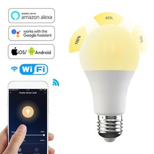 Smart Automation Modules Wifi Bulb B22 E27 E26 LED DOHOME APP Work With Alexa Google Home 110V 220V Warm + White Dimmable Function