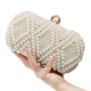 Women Luxurys Designer Bags 2020 Crossbody Bag Handbag Pearl Clutch Evening Bag Shoulder Bag Shiny Crystal Purse for Wedding Evening Party