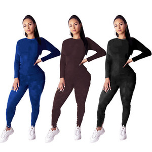 Fall Winter letter hoodies top+pants 2 pieces set women outfits casual tracksuit print sweatsuit plus size sportswear jogger suit