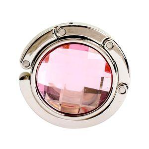 Colorido Portátil Metal Bolsa Plegable Bolso Hanco Bolso Colgadora Monedero Hook Bolso Bolso Bolsa de cáscara Bolsa de gancho Bolsa de gancho GGA4221