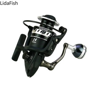 Lidafish 2021 새로운 낚시 릴 2000-7000 5.2 : 1 4.7 : 1 금속 스풀 회전 릴 잉어 낚시