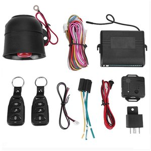 Car Vehicle Burglar Alarm Protection Keyless Security System with 2 Remotes Compatible with all kinds of vehicles