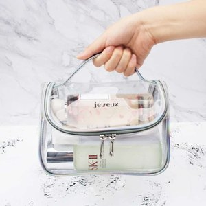Transparent simple waterproof large capacity fitness wash Bath Travel Portable make-up female storage Bag